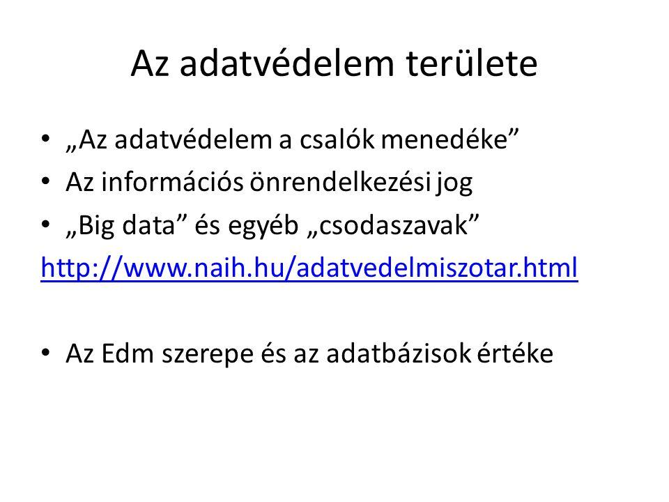 """Az adatvédelem fogalma Egymásnak ellentmondó elméletek Filozófiai és jogi megközelítés Az adatvédelem """"költség Az adatok védelme az adatkezelő kötelezettsége (Politika, USA-EU ellentét)"""