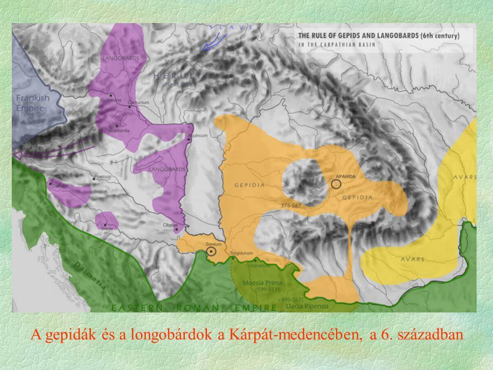 A gepidák és a longobárdok a Kárpát-medencében, a 6. században