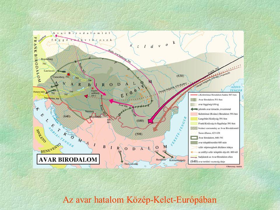 Az avar hatalom Közép-Kelet-Európában