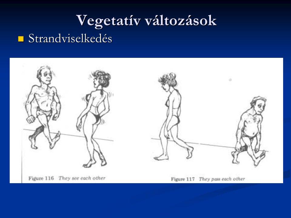 Vegetatív változások Strandviselkedés Strandviselkedés