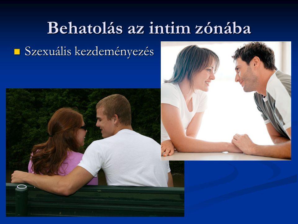 Behatolás az intim zónába Szexuális kezdeményezés Szexuális kezdeményezés