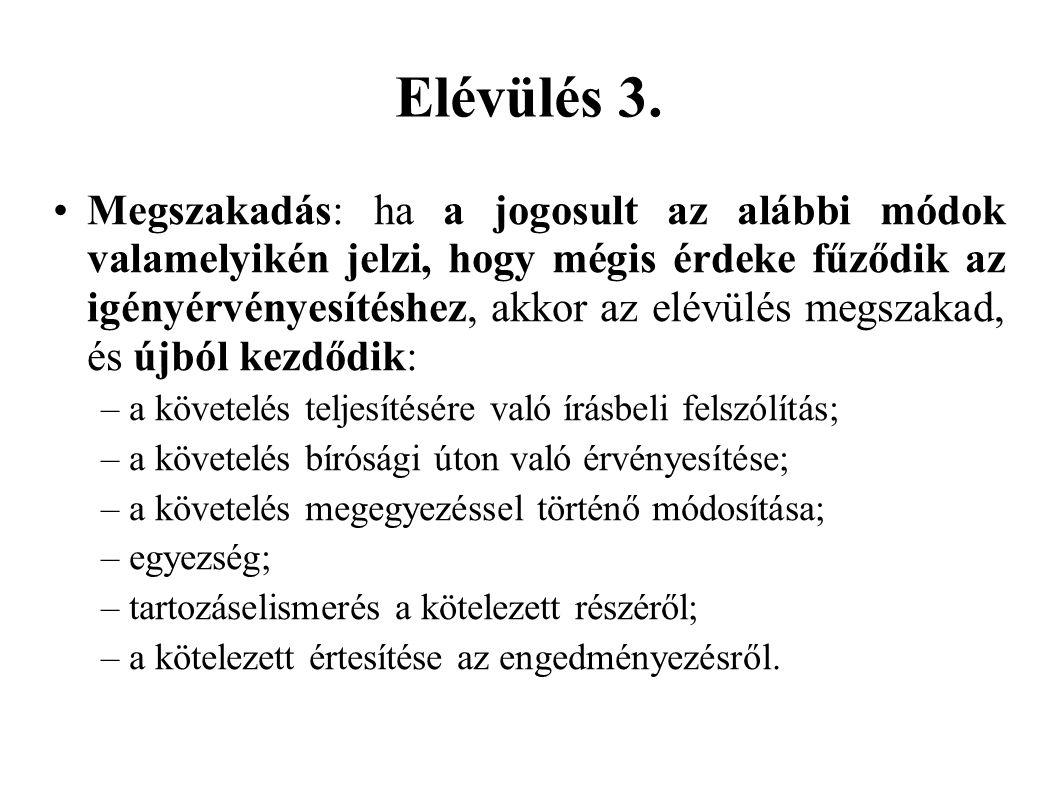 Elévülés 3.