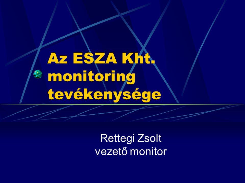 Az ESZA Kht. monitoring tevékenysége Rettegi Zsolt vezető monitor