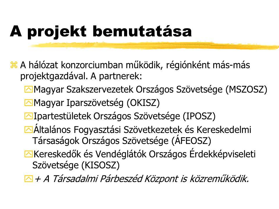 A projekt bemutatása zA hálózat konzorciumban működik, régiónként más-más projektgazdával.