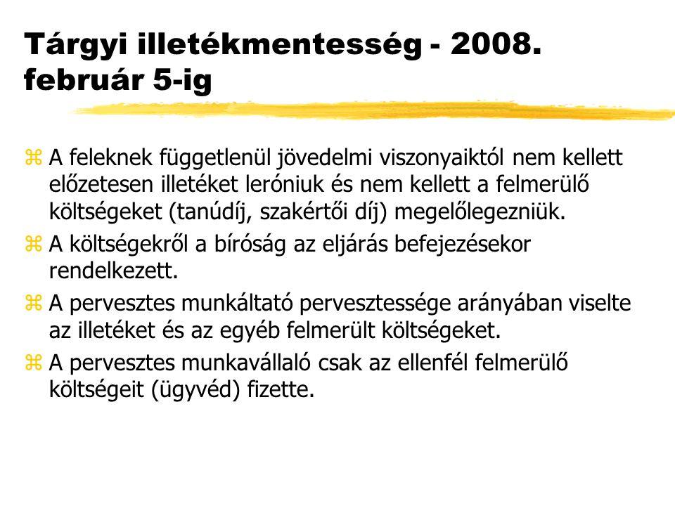 Tárgyi illetékmentesség - 2008.