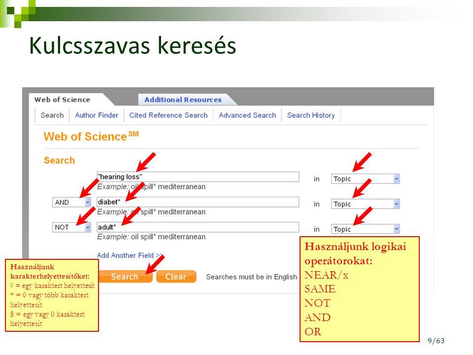 H-index (2) 50/63 A h-index 18, mert 18 publikációról mondható el, hogy legalább 18-an idézték.