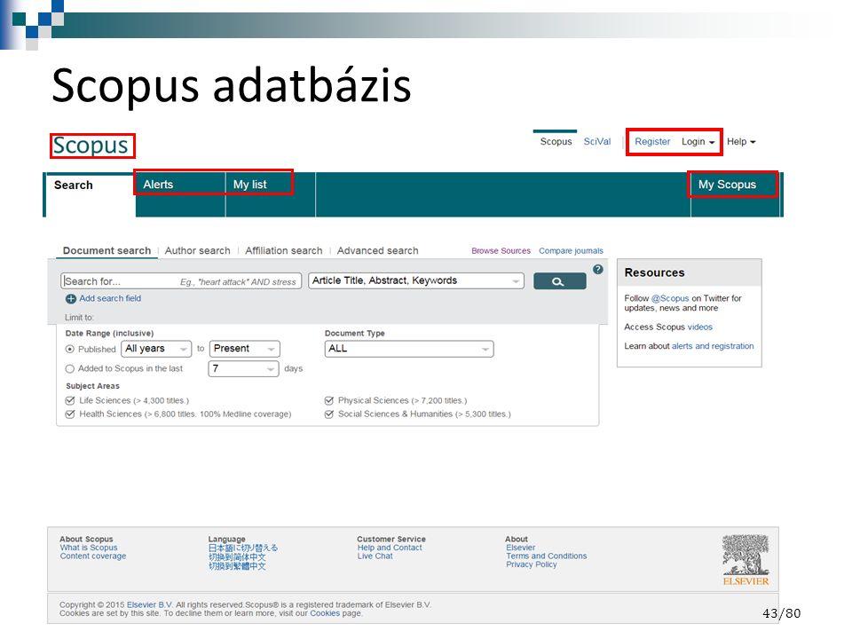 Scopus adatbázis 43/80