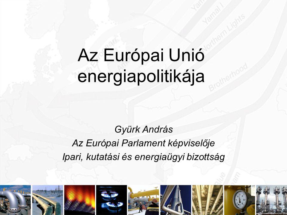 Az Európai Unió energiapolitikája Gyürk András Az Európai Parlament képviselője Ipari, kutatási és energiaügyi bizottság