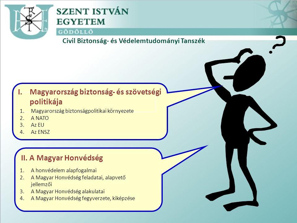 Civil Biztonság- és Védelemtudományi Tanszék Tartalomjegyzék: II.