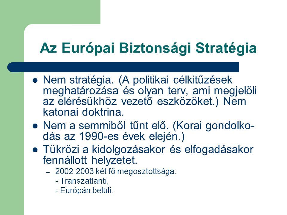 Az Európai Biztonsági Stratégia Nem stratégia.