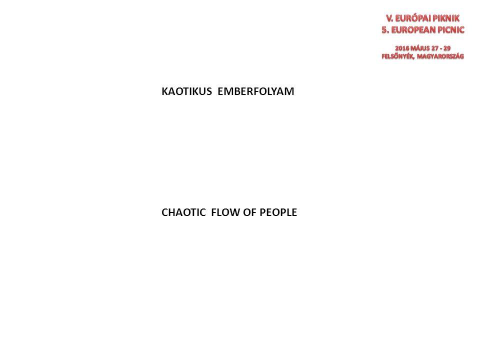 KAOTIKUS EMBERFOLYAM CHAOTIC FLOW OF PEOPLE RENDEZETTÉ KELL TENNI ORDER MUST BE