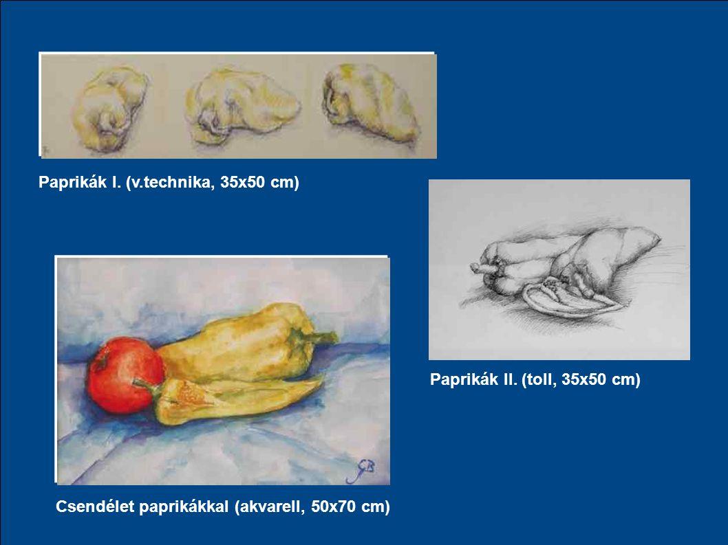 Luca (akvarell, 50x35 cm) Eső után (akvarell, 50x35 cm)