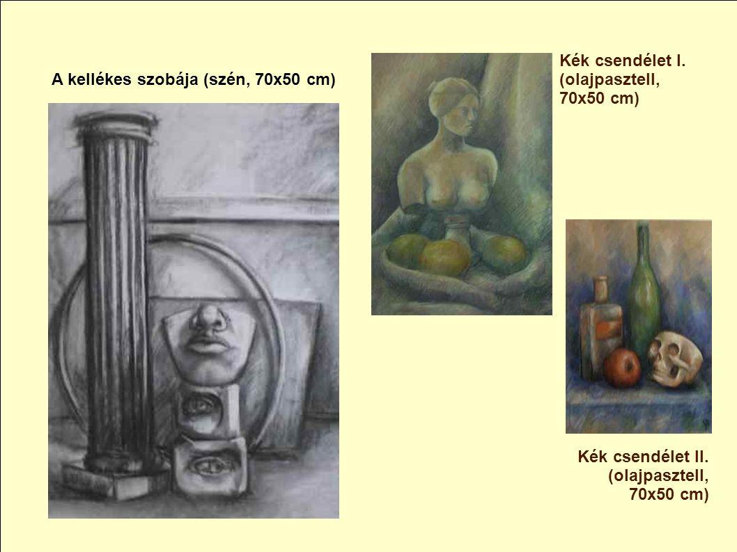 Tanulmány (pitt, 70x50 cm) Kettecskén (pitt, 70x50 cm)