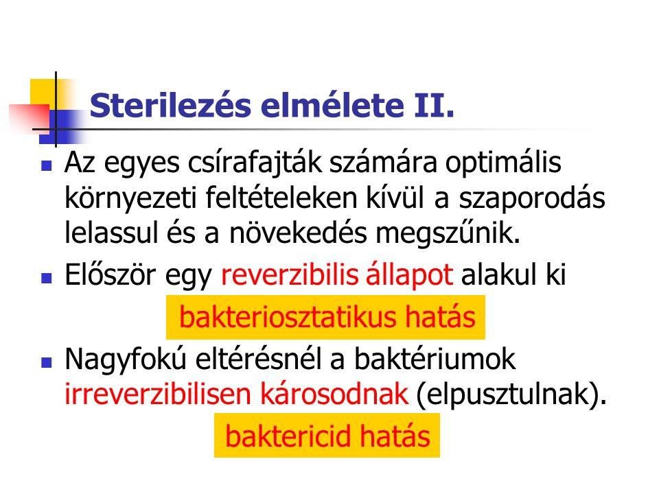 Sterilezés elmélete II.