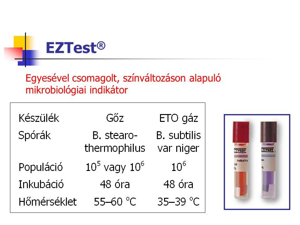 EZTest ® Egyesével csomagolt, színváltozáson alapuló mikrobiológiai indikátor