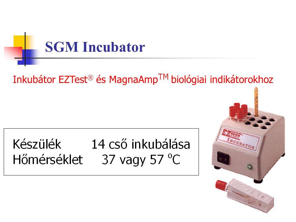 SGM Incubator Inkubátor EZTest ® és MagnaAmp TM biológiai indikátorokhoz