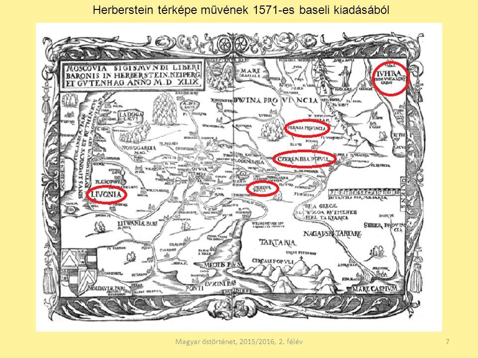 Magyar őstörténet, 2015/2016, 2. félév18 Horvát IstvánReguly Antal