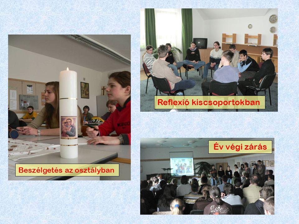 Év végi zárás Reflexió kiscsoportokban Beszélgetés az osztályban