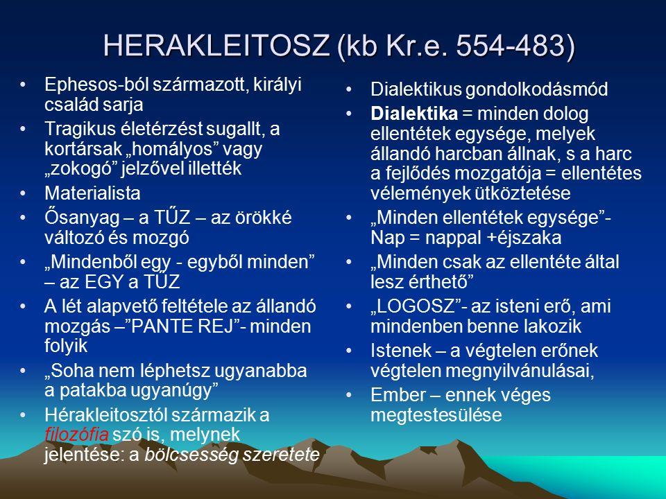 HERAKLEITOSZ (kb Kr.e.