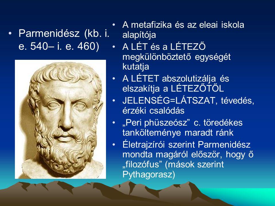 Parmenidész (kb.i. e. 540– i. e.