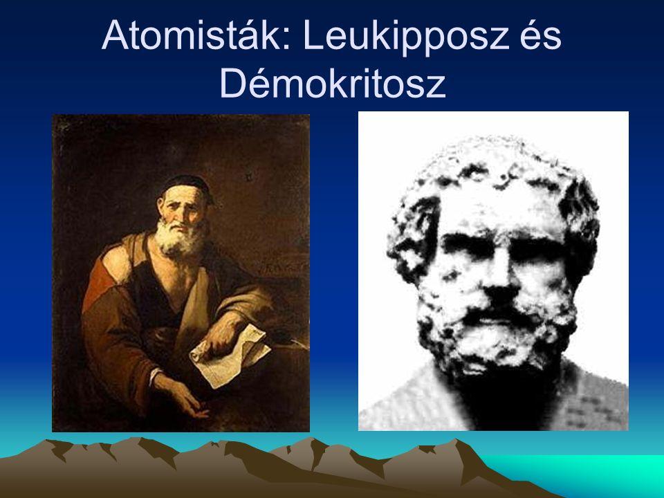 Atomisták: Leukipposz és Démokritosz