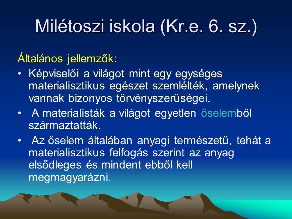Milétoszi iskola (Kr.e.6.
