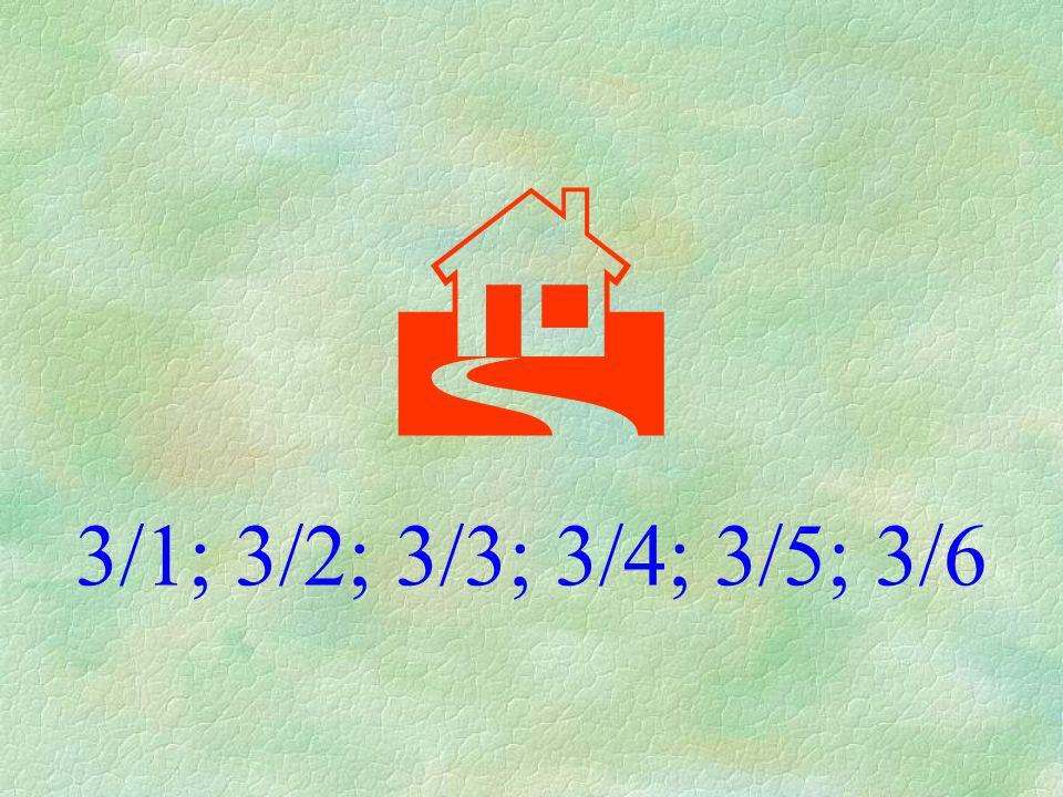  3/1; 3/2; 3/3; 3/4; 3/5; 3/6