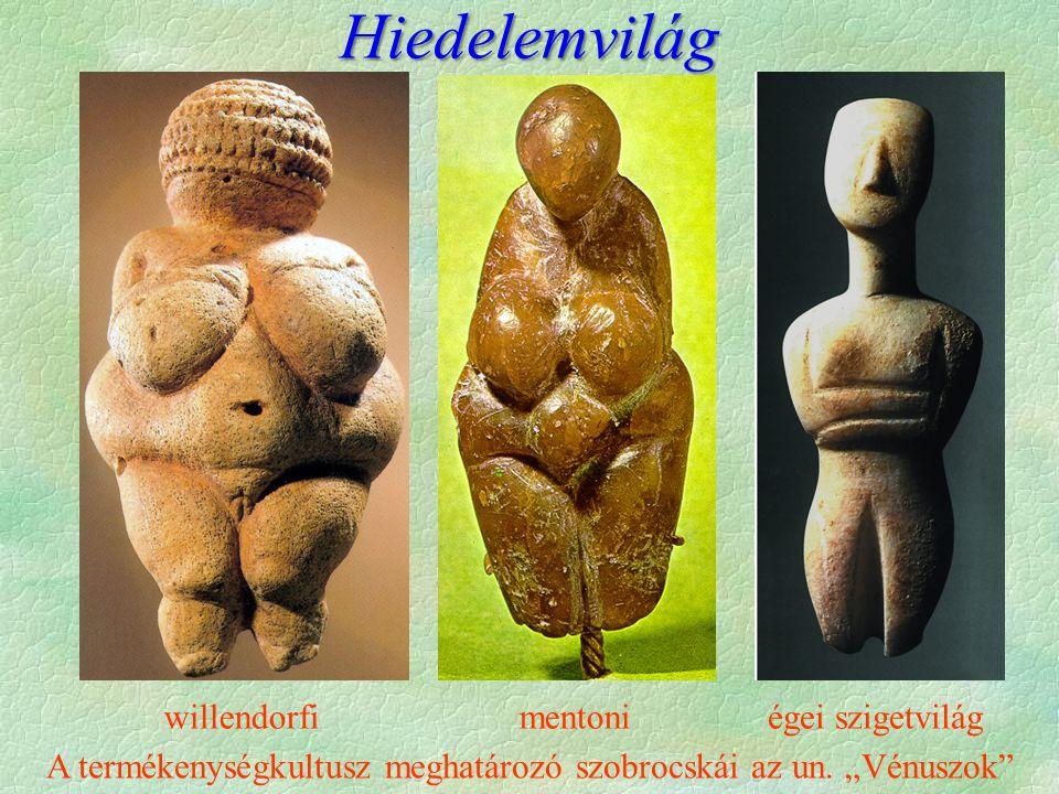 """A termékenységkultusz meghatározó szobrocskái az un. """"Vénuszok"""" mentoniwillendorfiégei szigetvilág Hiedelemvilág"""