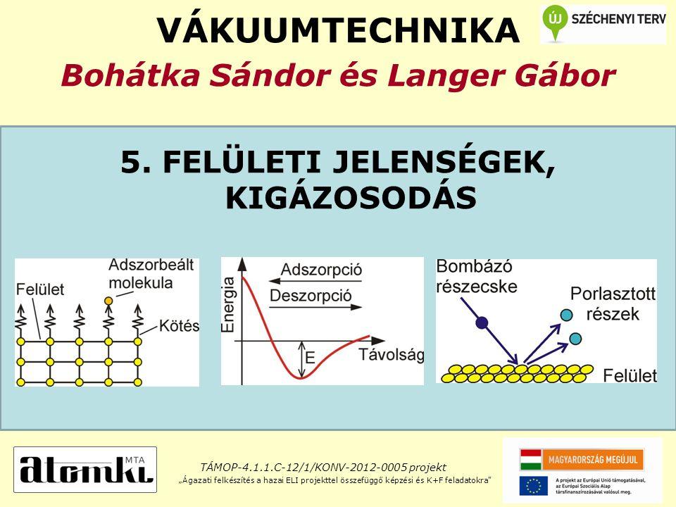 VÁKUUMTECHNIKA Bohátka Sándor és Langer Gábor 5.