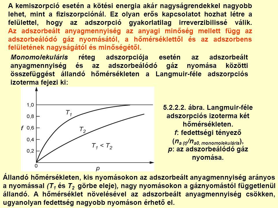 A kemiszorpció esetén a kötési energia akár nagyságrendekkel nagyobb lehet, mint a fiziszorpciónál.