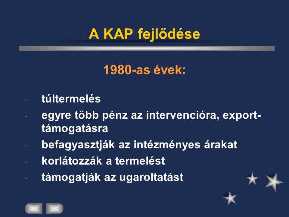 A KAP fejlődése 1990-es évek: 1992.