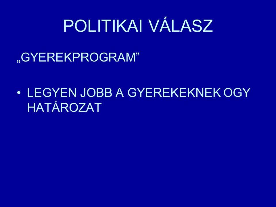 """POLITIKAI VÁLASZ """"GYEREKPROGRAM LEGYEN JOBB A GYEREKEKNEK OGY HATÁROZAT"""