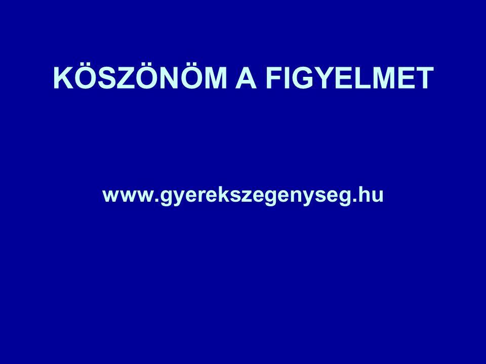 KÖSZÖNÖM A FIGYELMET www.gyerekszegenyseg.hu