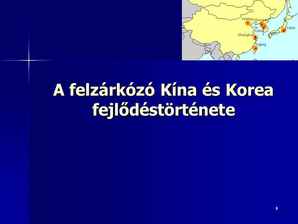 88 A felzárkózó Kína és Korea fejlődéstörténete