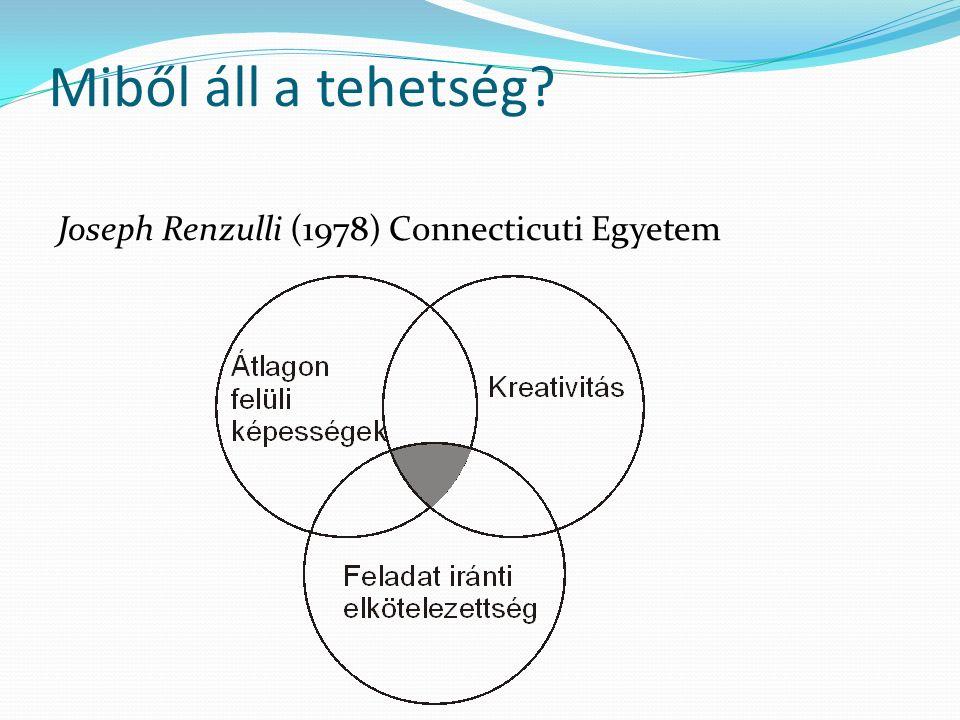 Miből áll a tehetség Joseph Renzulli (1978) Connecticuti Egyetem