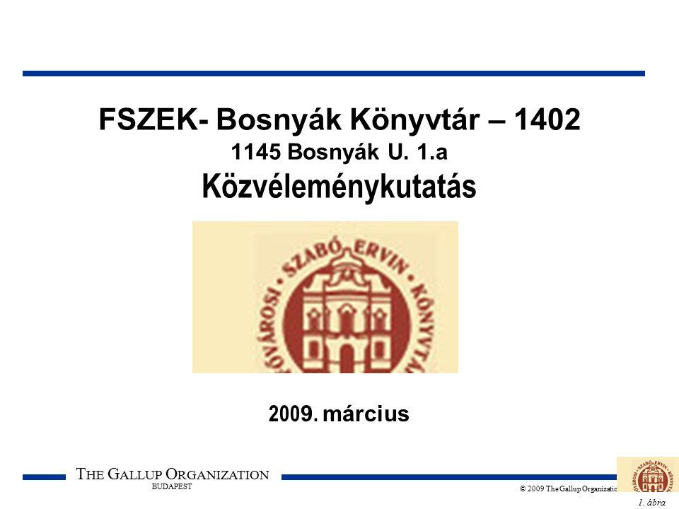 1. ábra T HE G ALLUP O RGANIZATION BUDAPEST © 2009 The Gallup Organization FSZEK- Bosnyák Könyvtár – 1402 1145 Bosnyák U. 1.a Közvéleménykutatás 200 9