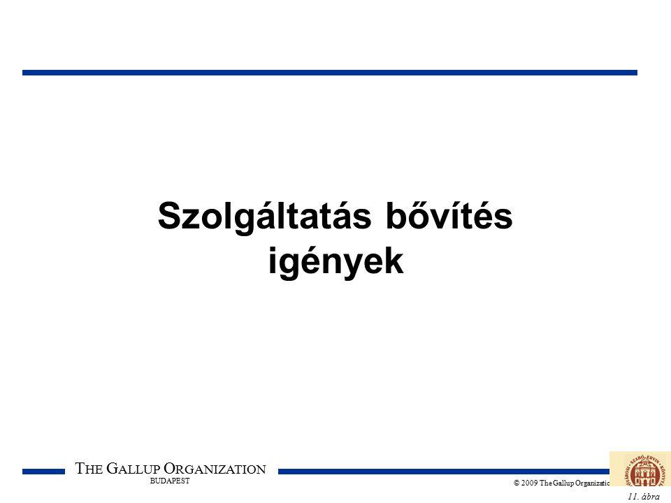 11. ábra T HE G ALLUP O RGANIZATION BUDAPEST © 2009 The Gallup Organization Szolgáltatás bővítés igények