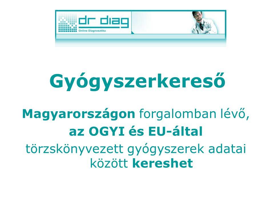 Forradalmian új orvos- informatikai rendszer, melynek részei: Gyógyszerkereső Gyógyszerfigyelő- és értesítő rendszer Irányelvek Házi betegápolás BNO k