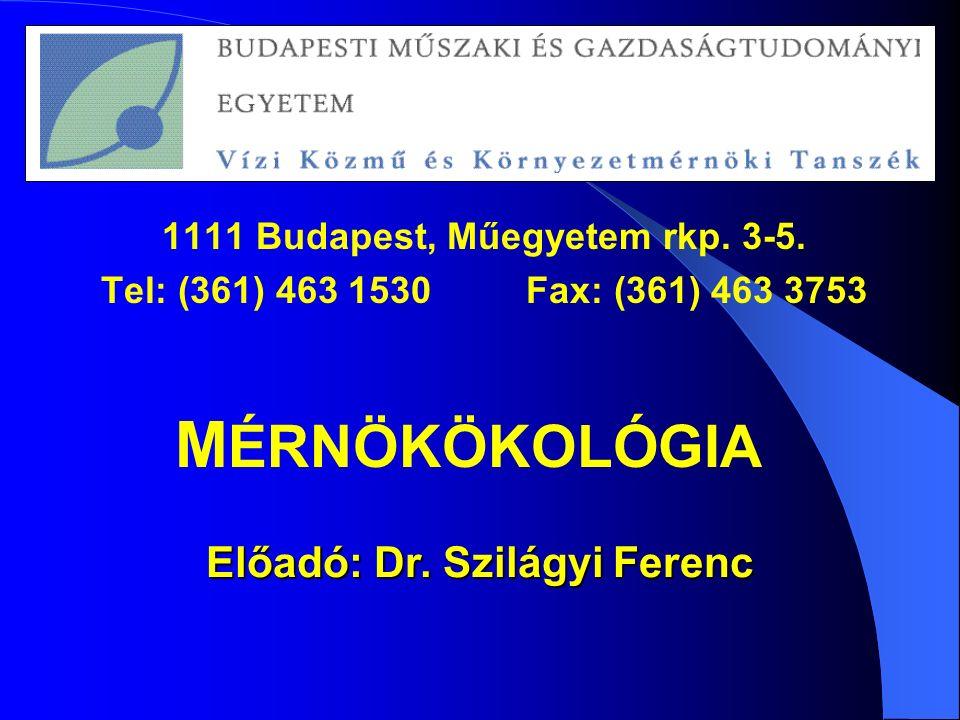 1111 Budapest, Műegyetem rkp. 3-5.