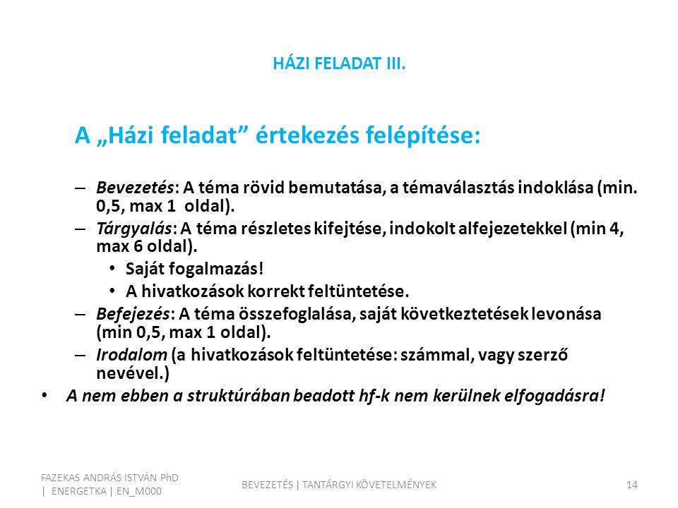 HÁZI FELADAT III.