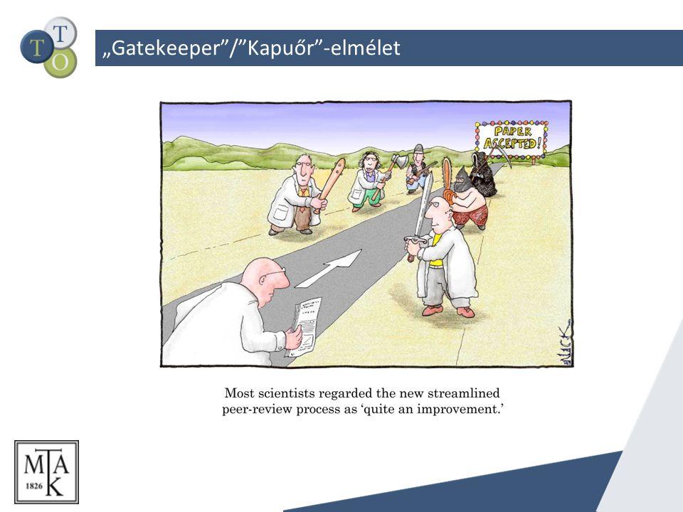 """""""Gatekeeper / Kapuőr -elmélet"""