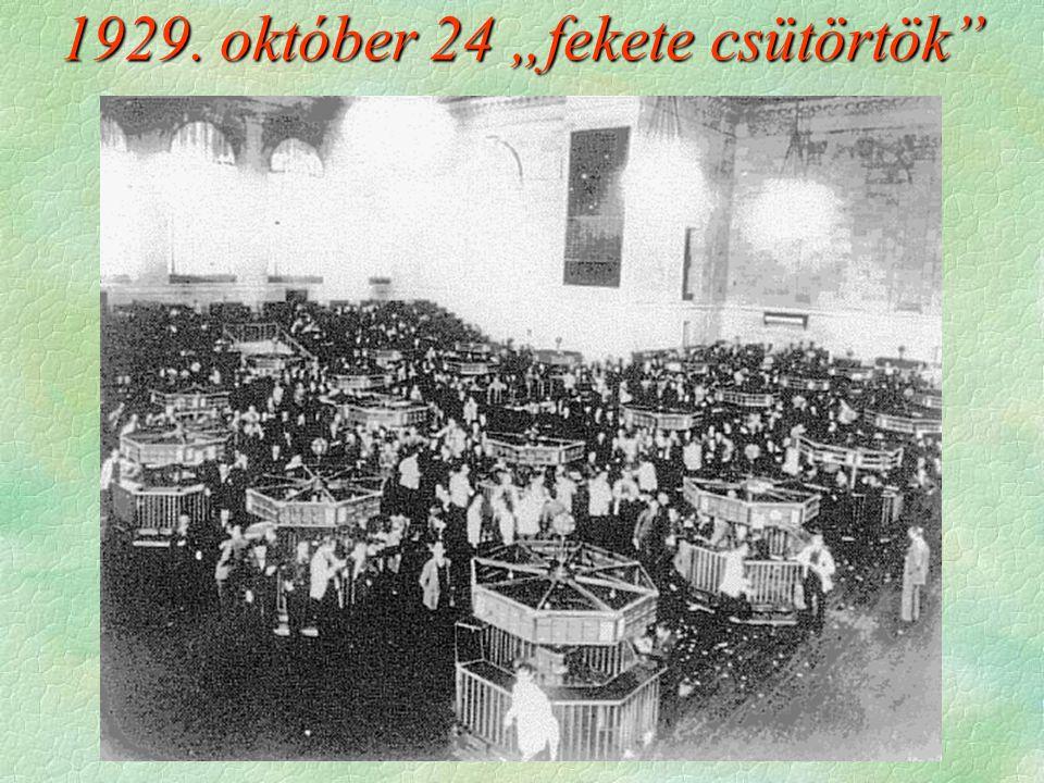 """1929. október 24 """"fekete csütörtök"""""""