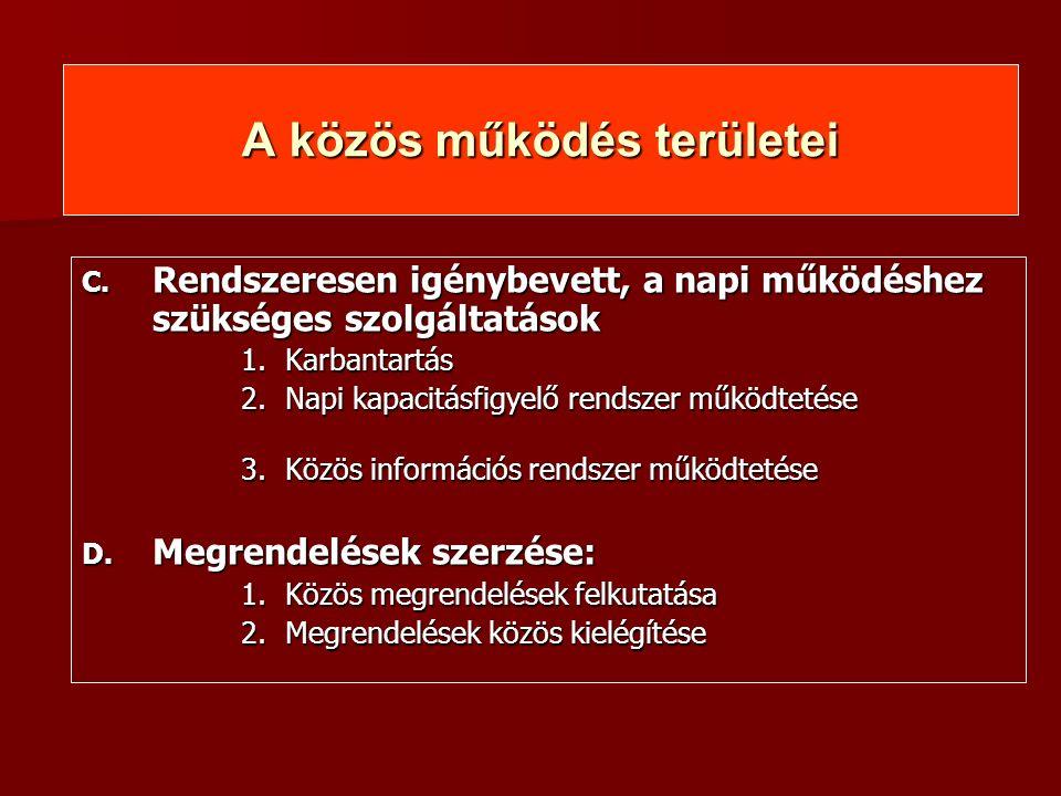 Legfontosabb Faladataink Klaszter és a szolgáltatásainak megerősítése Klaszter és a szolgáltatásainak megerősítése  GVOP 1.1.3./b.