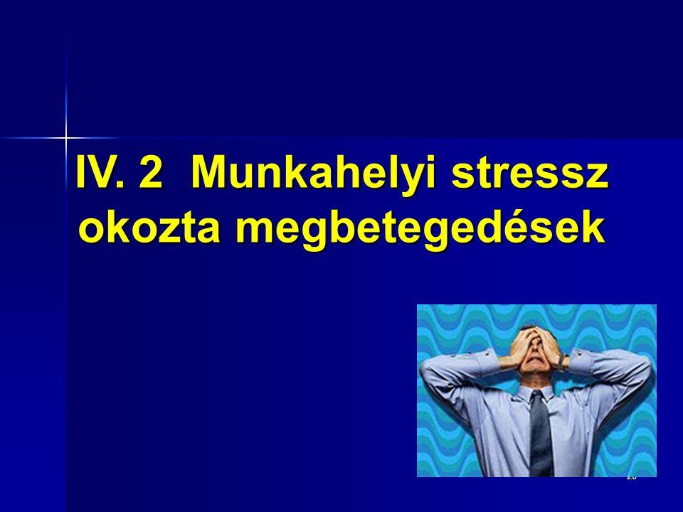26 IV. 2 Munkahelyi stressz okozta megbetegedések