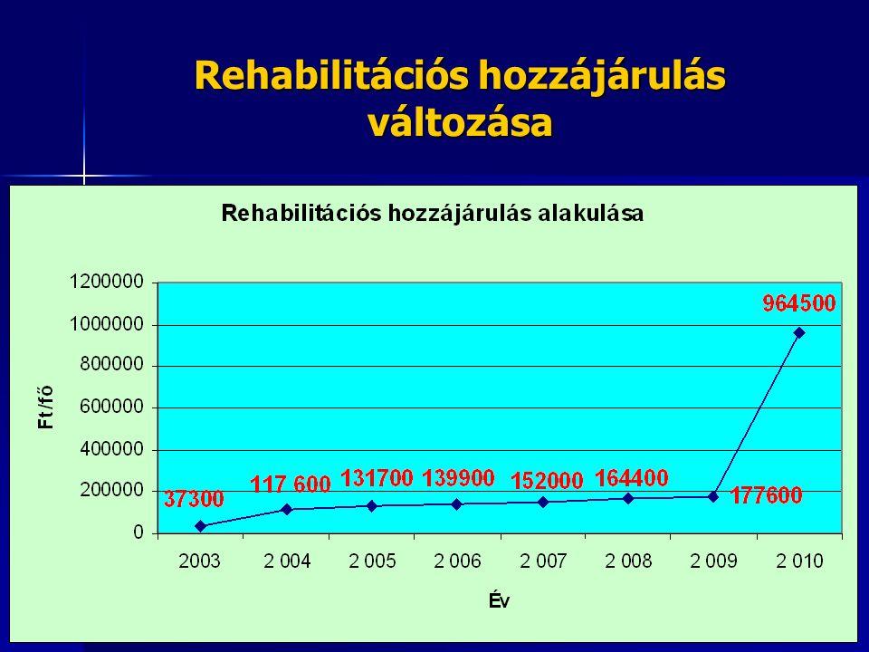 Rehabilitációs hozzájárulás változása