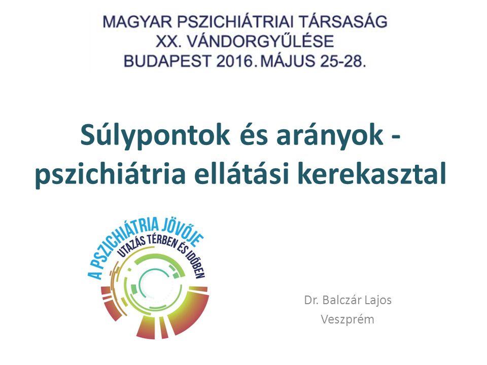 Súlypontok és arányok - pszichiátria ellátási kerekasztal Dr. Balczár Lajos Veszprém