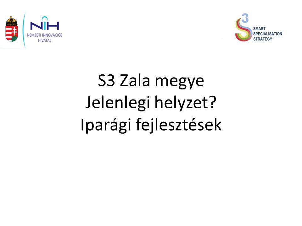 S3 Zala megye Jelenlegi helyzet Iparági fejlesztések