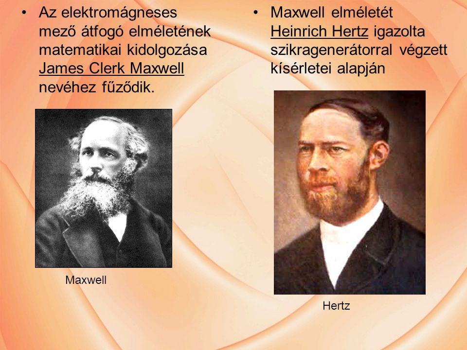 Az elektromágneses mező átfogó elméletének matematikai kidolgozása James Clerk Maxwell nevéhez fűződik.
