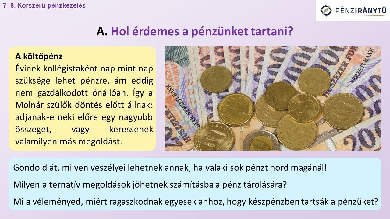 A költőpénz Évinek kollégistaként nap mint nap szüksége lehet pénzre, ám eddig nem gazdálkodott önállóan.