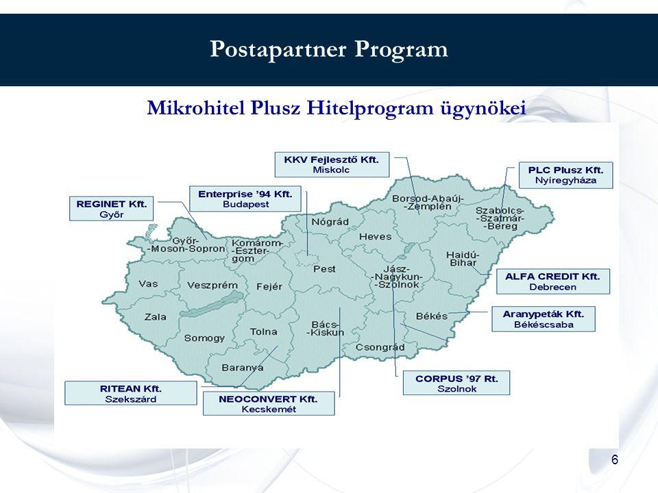 6 Postapartner Program Mikrohitel Plusz Hitelprogram ügynökei